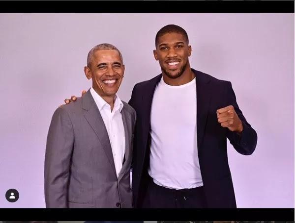 Anthony Joshua meets Barack Obama 1