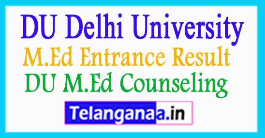 DU M.Ed Entrance Result Answer Keys 2018 DU M.Ed Counseling