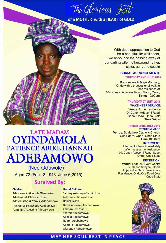 ayo adebamowo  a tribute to my late mum from the depth of