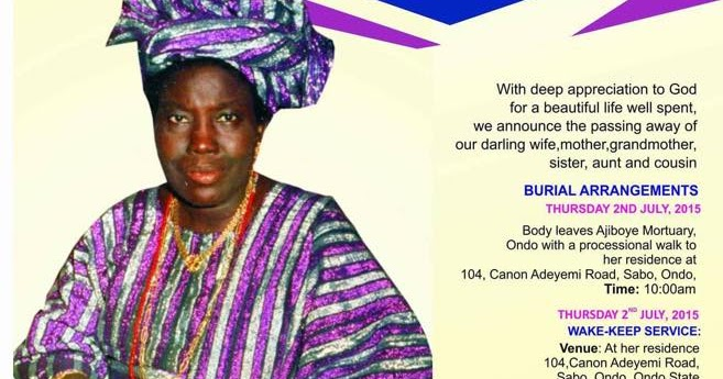 Ayo Adebamowo: A Tribute to My Late Mum from the Depth of my Heart