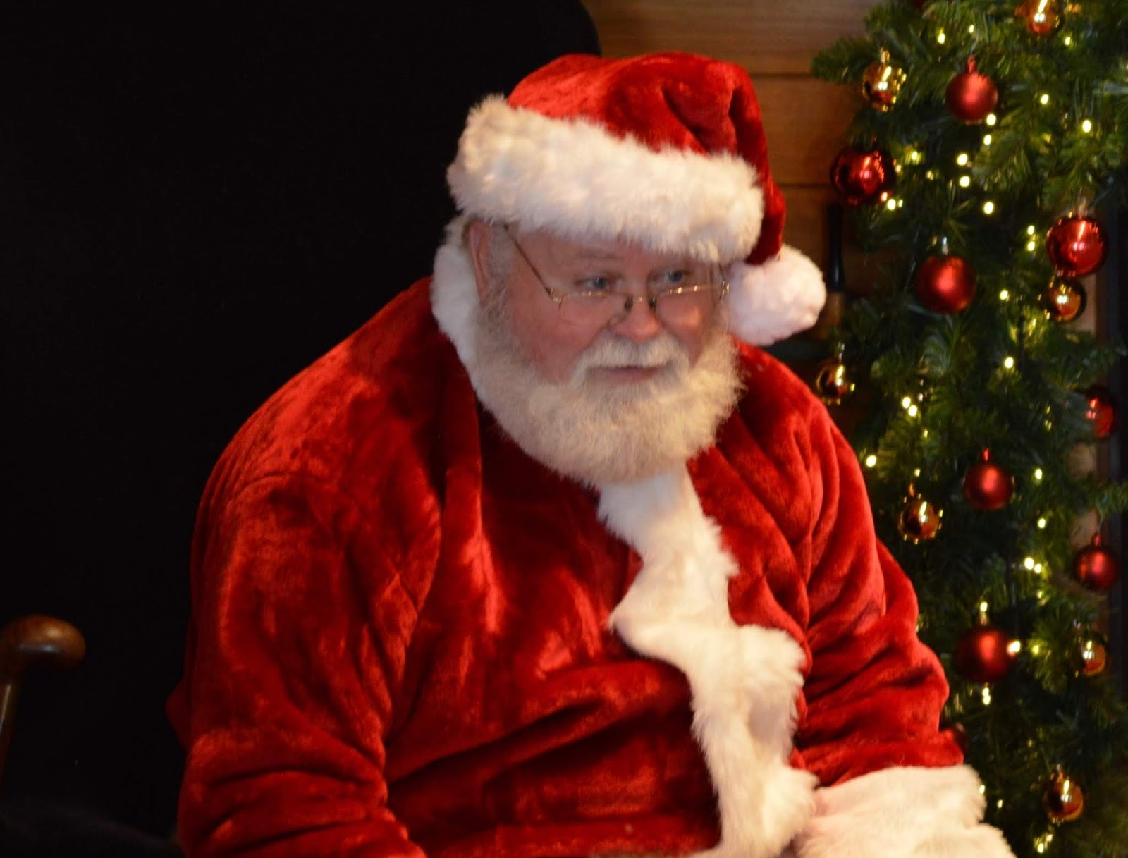 Santa on the Rooftop at Fenwick Newcastle | A Review  - santa by the tree