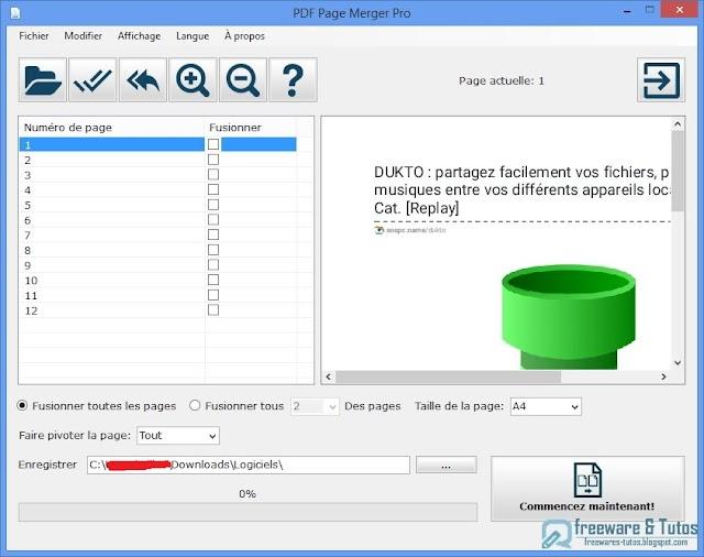 PDF Page Merger : un logiciel pour afficher plusieurs pages PDF en une seule