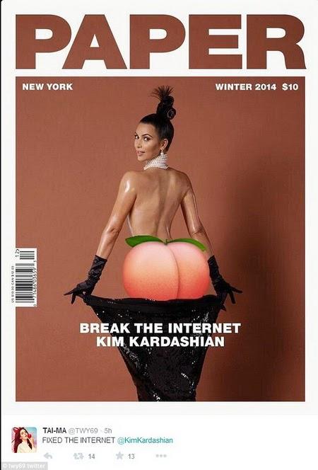 parodi gokil foto kim kardashian 2