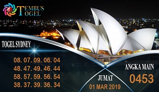 Prediksi Angka Togel Sidney Jumat 01 Maret 2019