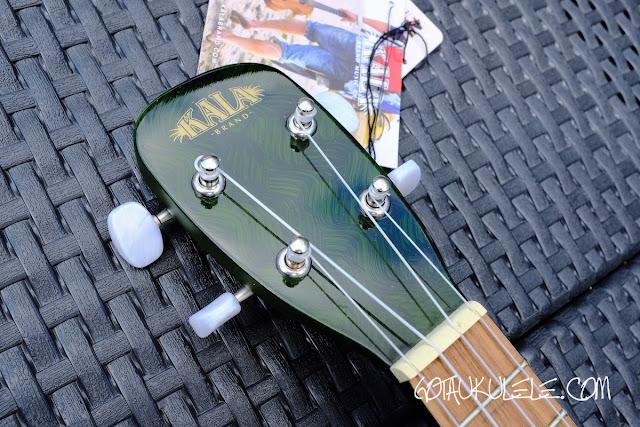 Kala Novely Watermelon Soprano Ukulele headstock