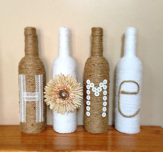 ideas para decorar con botellas de vidrio On ideas para decorar botellas de vidrio