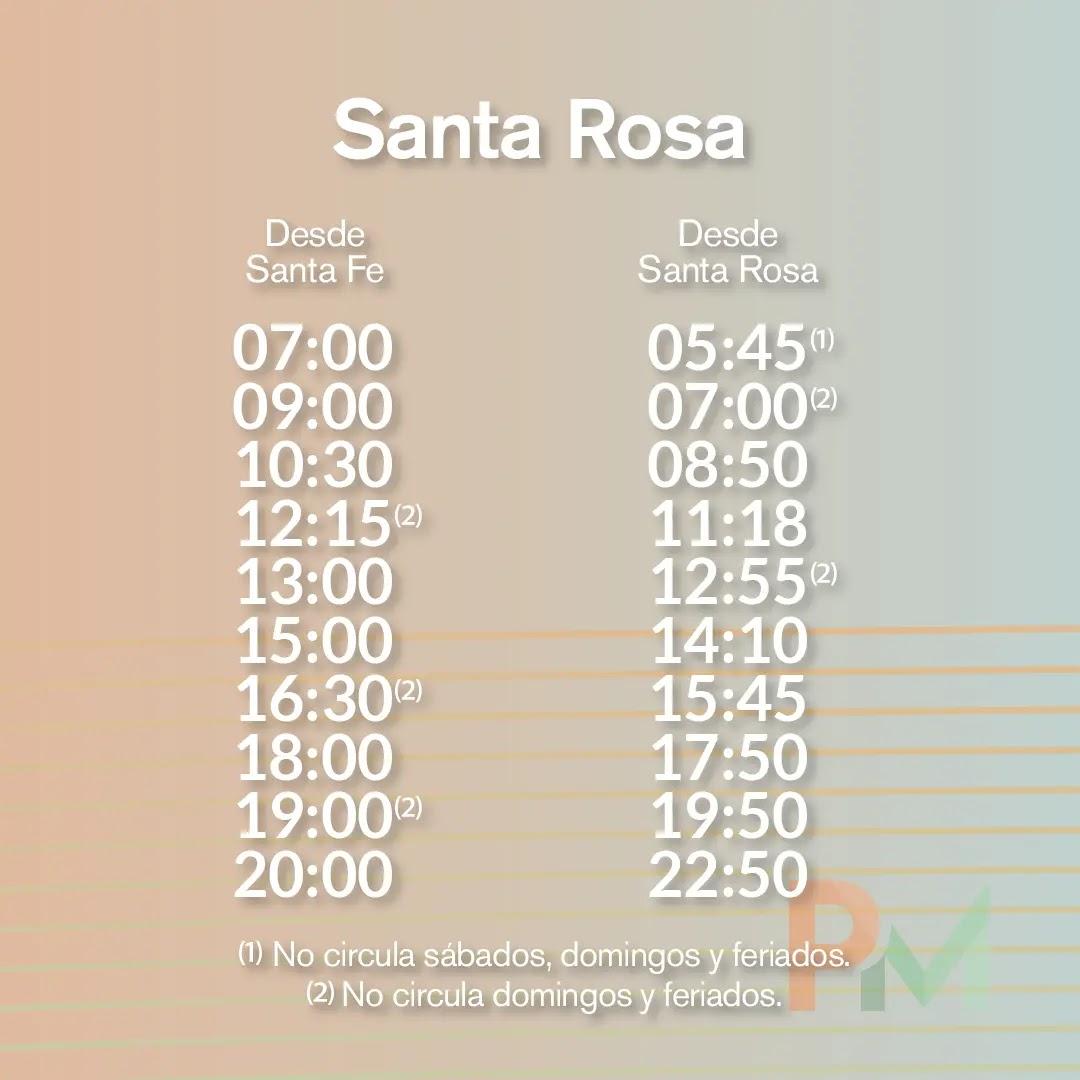 Horarios Parana Medio Santa Rosa
