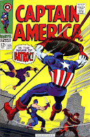 Captain America v1 #105 marvel comic book cover art by Jack Kirby