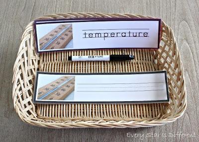 Temperature Word Strips