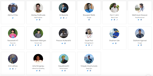 Image of the 14 community leaders from TFUG India Summit