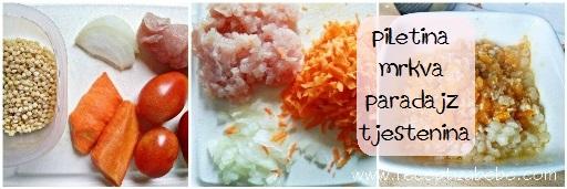 Tjestenina, piletina, paprika i paradajz za bebe