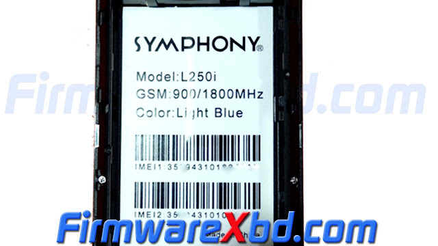 Symphony L250i MT6261 Flash File Free Download Without Password