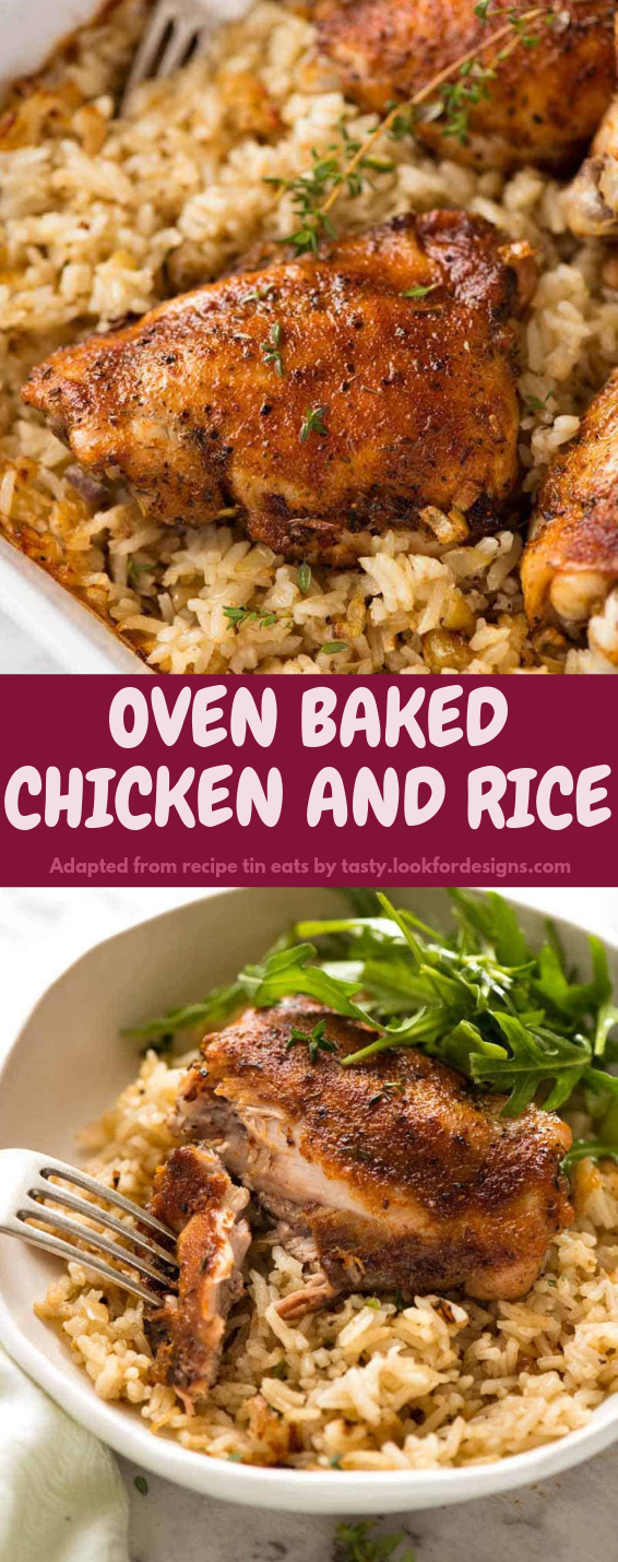Oven Baked Chicken and Rice Recipe