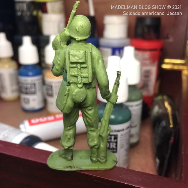 Figura de soldado americano con radio, Jecsan