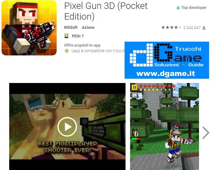 Trucchi Pixel Gun 3D (Pocket Edition) Mod Apk Android v11.1.1