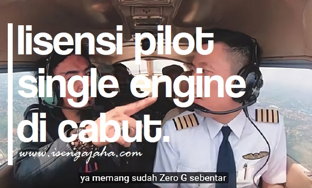 "Lisensi Pilot ""Single Engine"" Captain. Vincent Di Cabut"