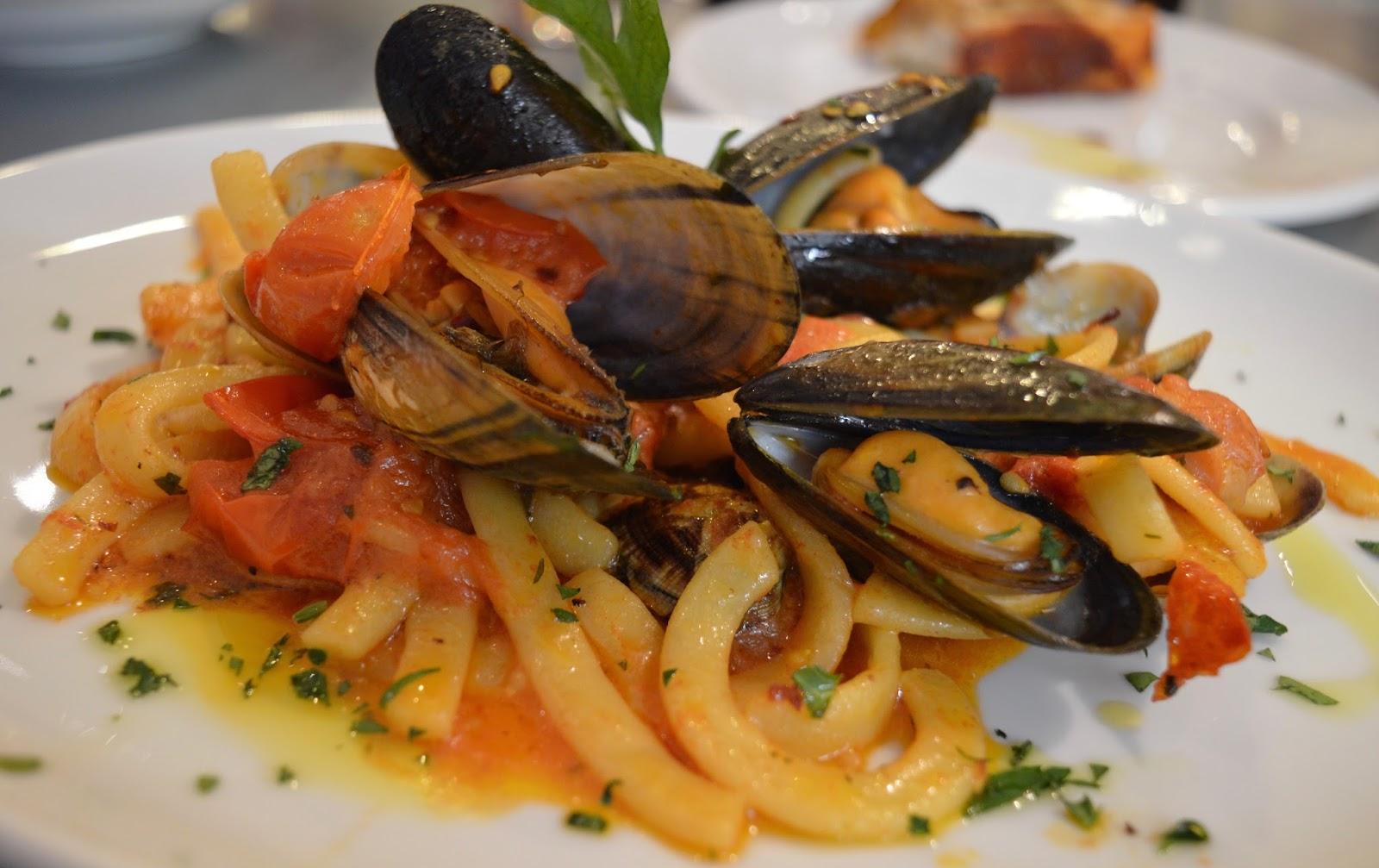Rossopomodoro Neapolitan restaurant - John Lewis Newcastle seafood pasta