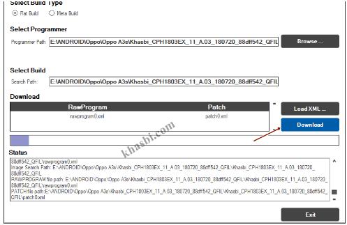 Flash Oppo A3s CPH1803 via QFIL