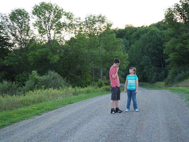kids on a gravel road