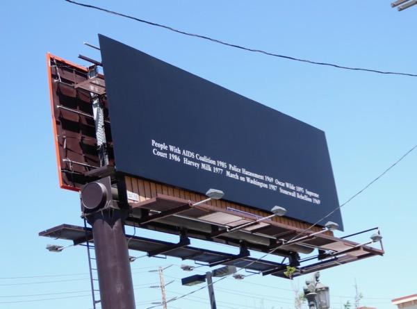 LGBT history billboard