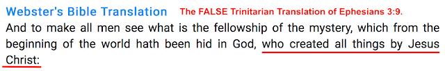 Ephesians 3:9.