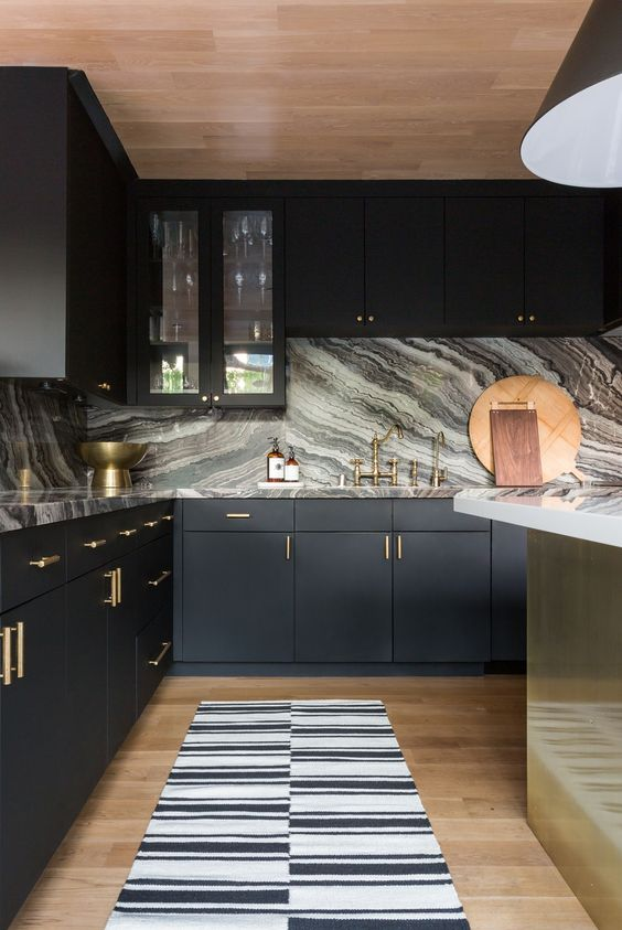 incredible kitchen interior design idea with marble details