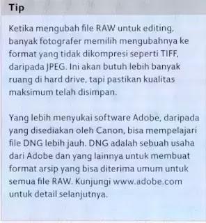 Tips Mengubah File RAW