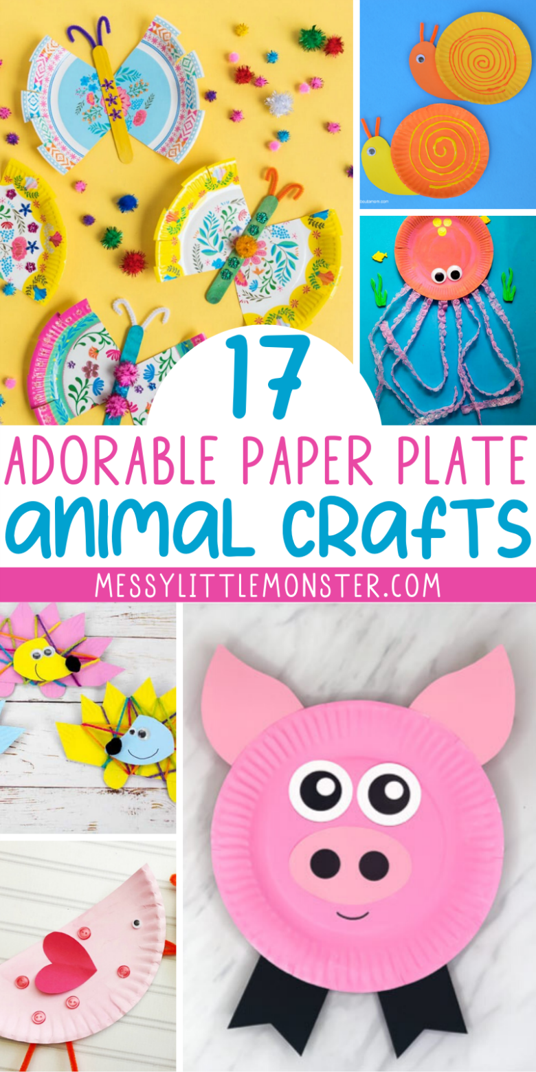 Paper plate animals. Easy paper plate crafts for kids.
