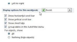 Cara Menampilkan Tab Lembar Sheet di Excel 2010