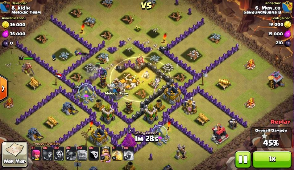 COC War 3 Star TH8 with Gowiwipe by menco 10032015 | 3 Stars