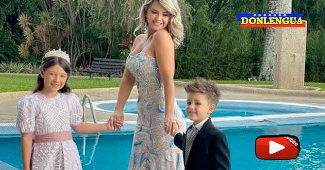 Patricia Schwarzgruber utilizó a sus hijos pequeños para hacer publicidad en la boda de Daniela Alvarado