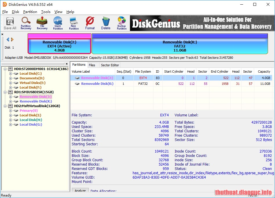 Download DiskGenius Professional 5.1.1.659 Full Crack