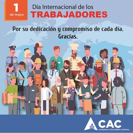 Consorcio Azucarero Central CAC felicita a los trabajadores en su día