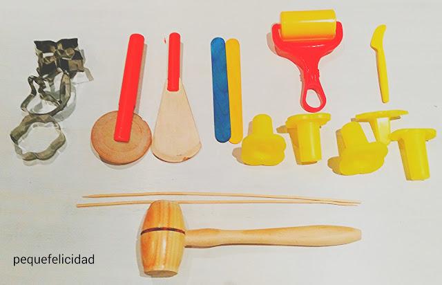 Pequefelicidad modelar 12 materiales creativos para for Lista de materiales de cocina