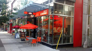 A&W Storefront on Robson Street