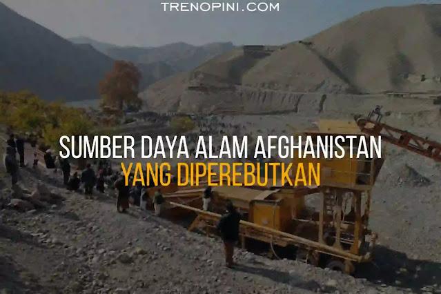 Seperti diketahui, Afghanistan menyimpan kekayaan mineral yang besar. Meski dikenal sebagai salah satu negara termiskin di dunia, nyatanya Afghanistan memiliki kekayaan mineral besar yang belum dimanfaatkan.