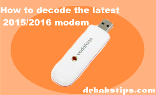 how to decode latest modem