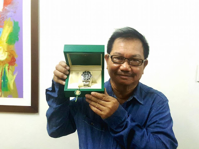 Manny Piñol returned P450 thousand worth rolex given to him as Christmas gift