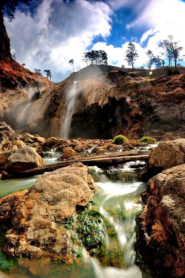 Aik Kalak, Hot spring pool side Segara Anak Lake of Mount Rinjani