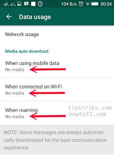 Agar Foto WhatsApp tidak tersimpan otomatis