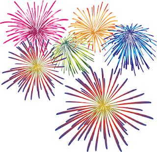 Five Little Firecrackers Clip Art