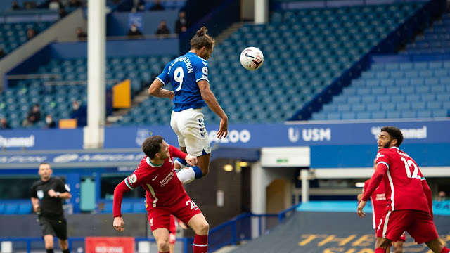 Everton forward Dominic Calvert Lewin is in fine form this season for Ancelotti's side