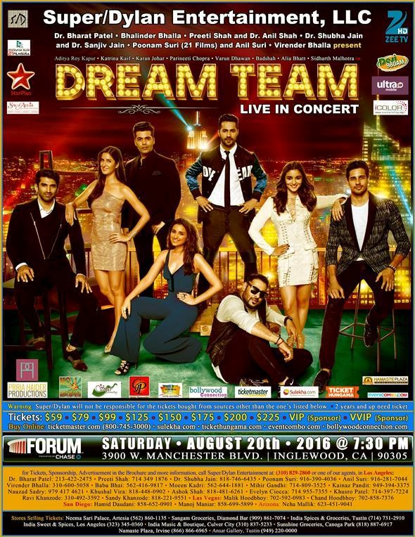 Dream team live concert 2016