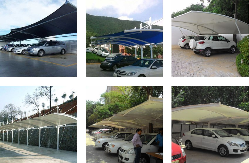 Tensile Structure Car Parking Structures Manufacturers Material
