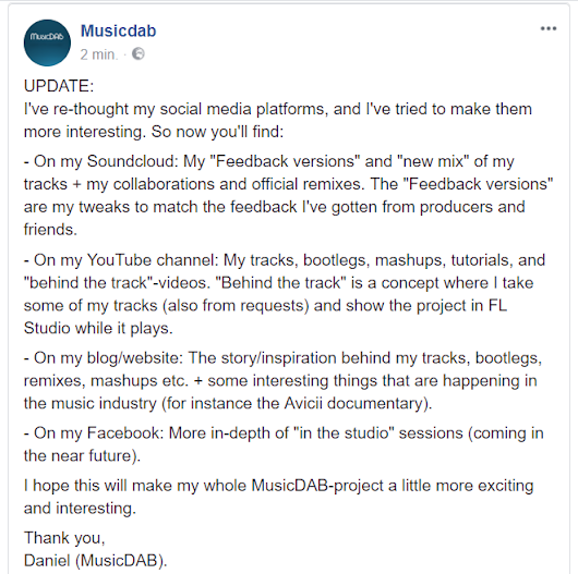 UPDATE: Social media platforms (what to expect).