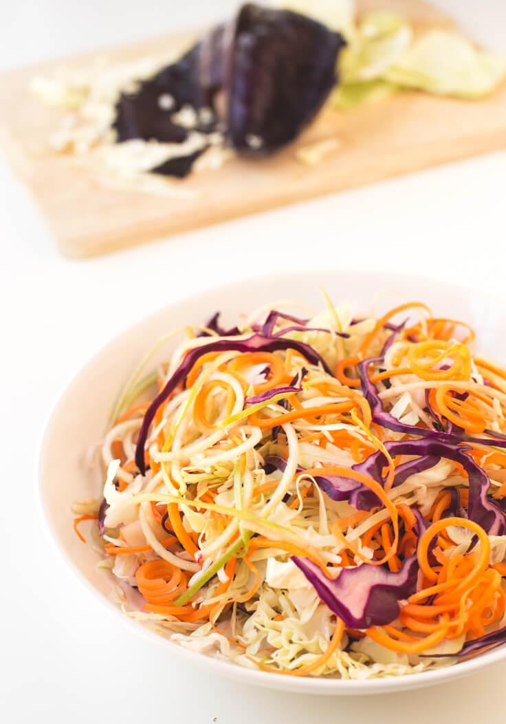 Vegan Coleslaw | danceofstoves.com #vegan