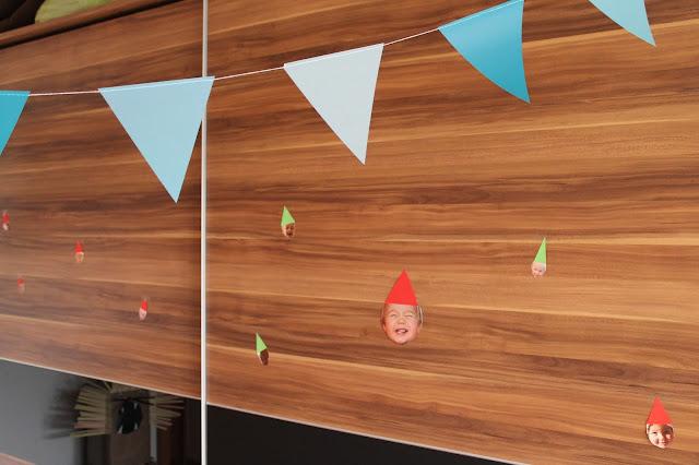 Partyhuetchen Wimpelkette Girlande Geburtstag Kindergeburtstag