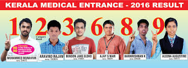 kerala medical entrance result 2016 top ranks