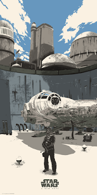 Star Wars Original Trilogy Millennium Falcon Screen Print Set by Raid71 x Bottleneck Gallery