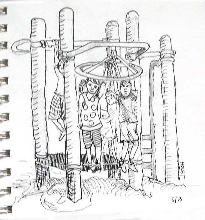 Urban Sketchers Portland: Playground Duty